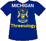 Michigan's Threesology T-shirt