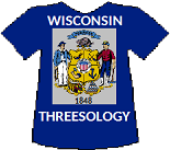 Wisconsin's Threesology T-shirt