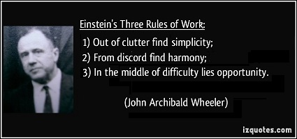 3 Rules of Einstein by J.A. Wheeler