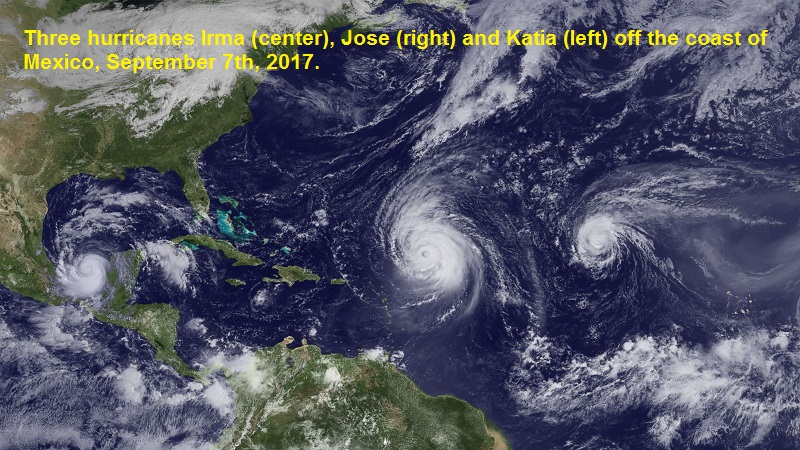 Three hurricanes that could reach  landfall