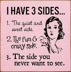 Three sides of a person