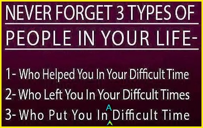 Three types of people not to forget