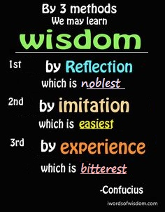 3 methods of wisdom by Confucius