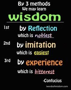 3 methods of wisdom by Confucius