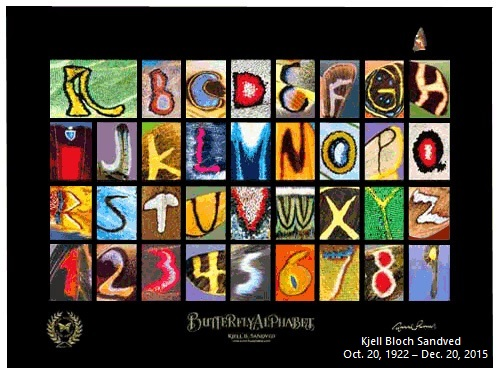 The Butterfly Alphabet by Kjell Bloch Sandved