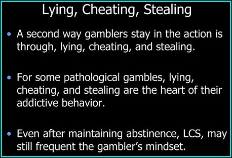 Lying, Cheating, Stealing as addictions themselves