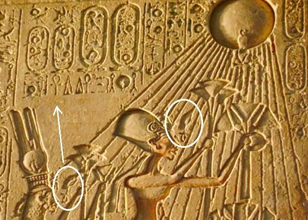 Solar hands with ankh