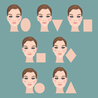 Face shapes including the rectangle
