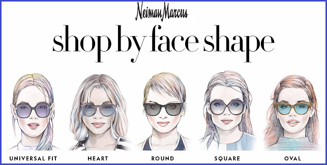 Shopping by face shape