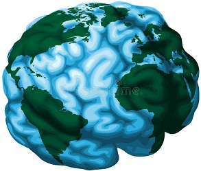 The earth as a human brain
