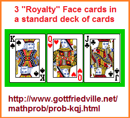 3 face cards