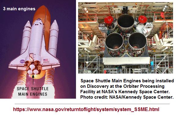 3 main rocket engines