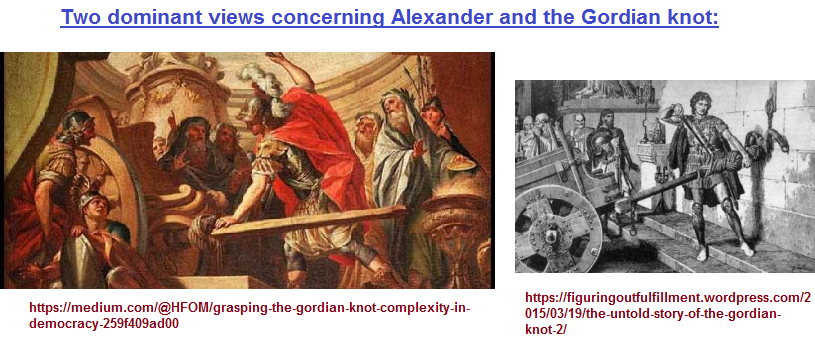 Alexander and the Gordian Knot
