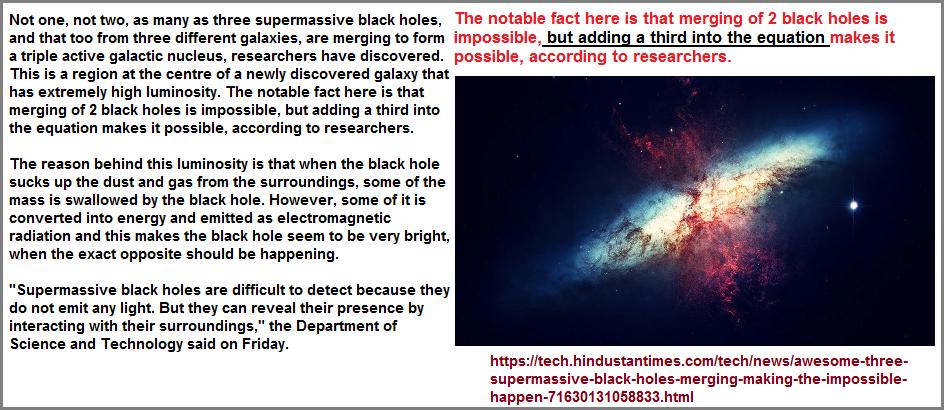 3 black holes merging