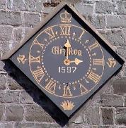 Two-handed clock