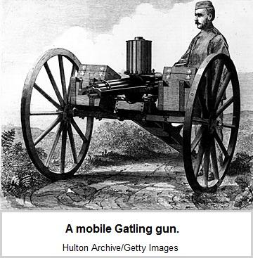 A mobile Gatling gun