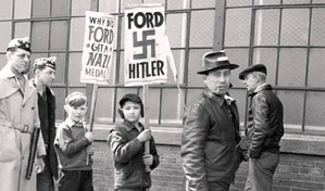 Public protest of Ford and his Nazi alliance