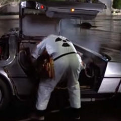 The DeLorean from Back to the Future