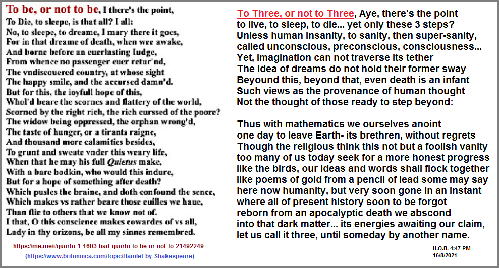 To three or not to three, Aye, that is the point.